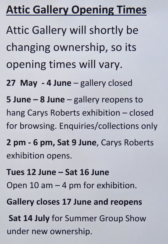 The timing of the General Election has meant we have had to delay the date of the opening of the Gareth Thomas Exhibition to 17 June.