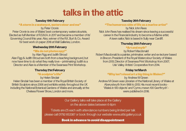 2 Talks in the Attic