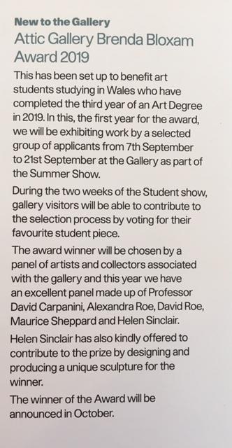 Attic Gallery Student Award
