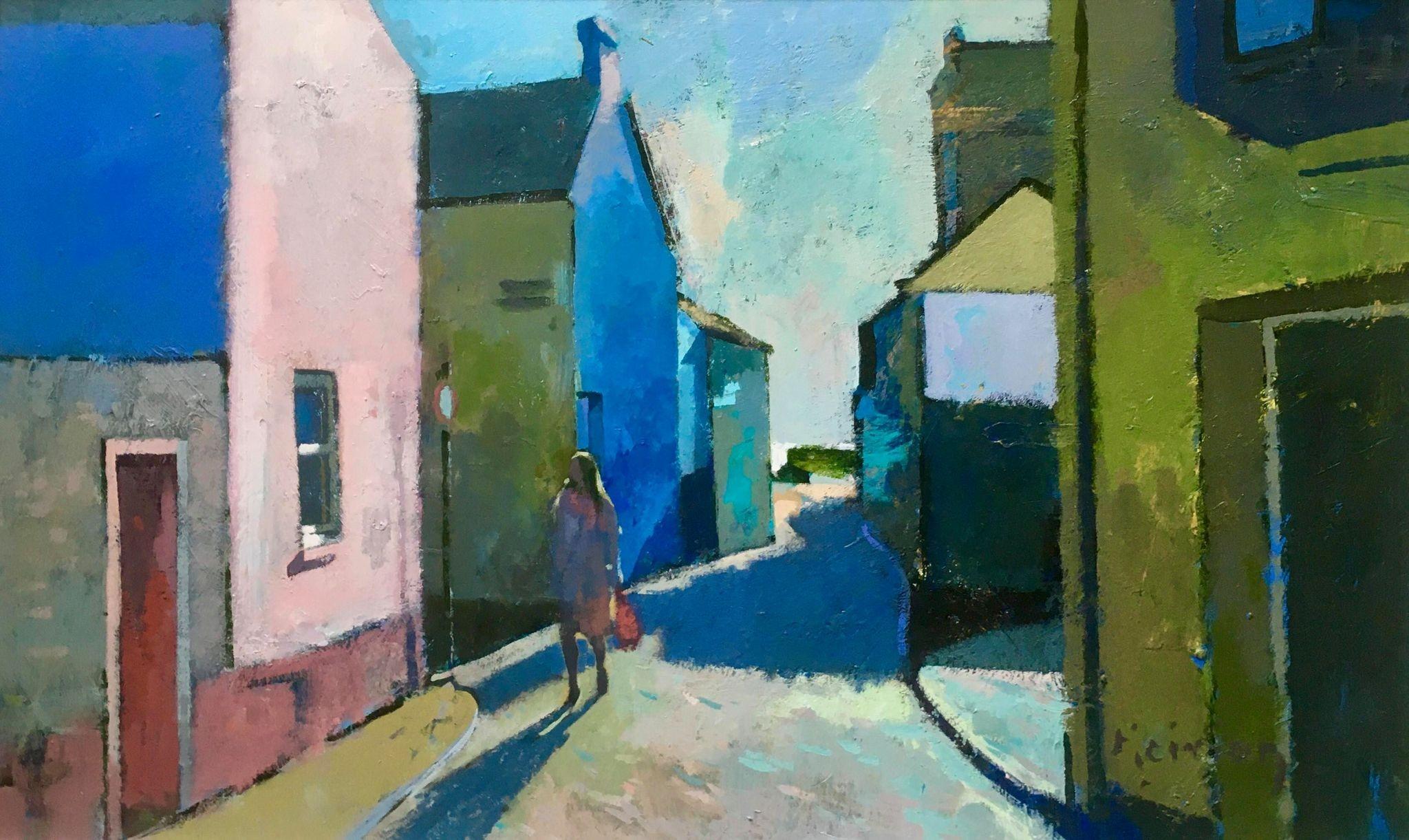 A Street in Tenby   40 x 63 cm   Acrylic