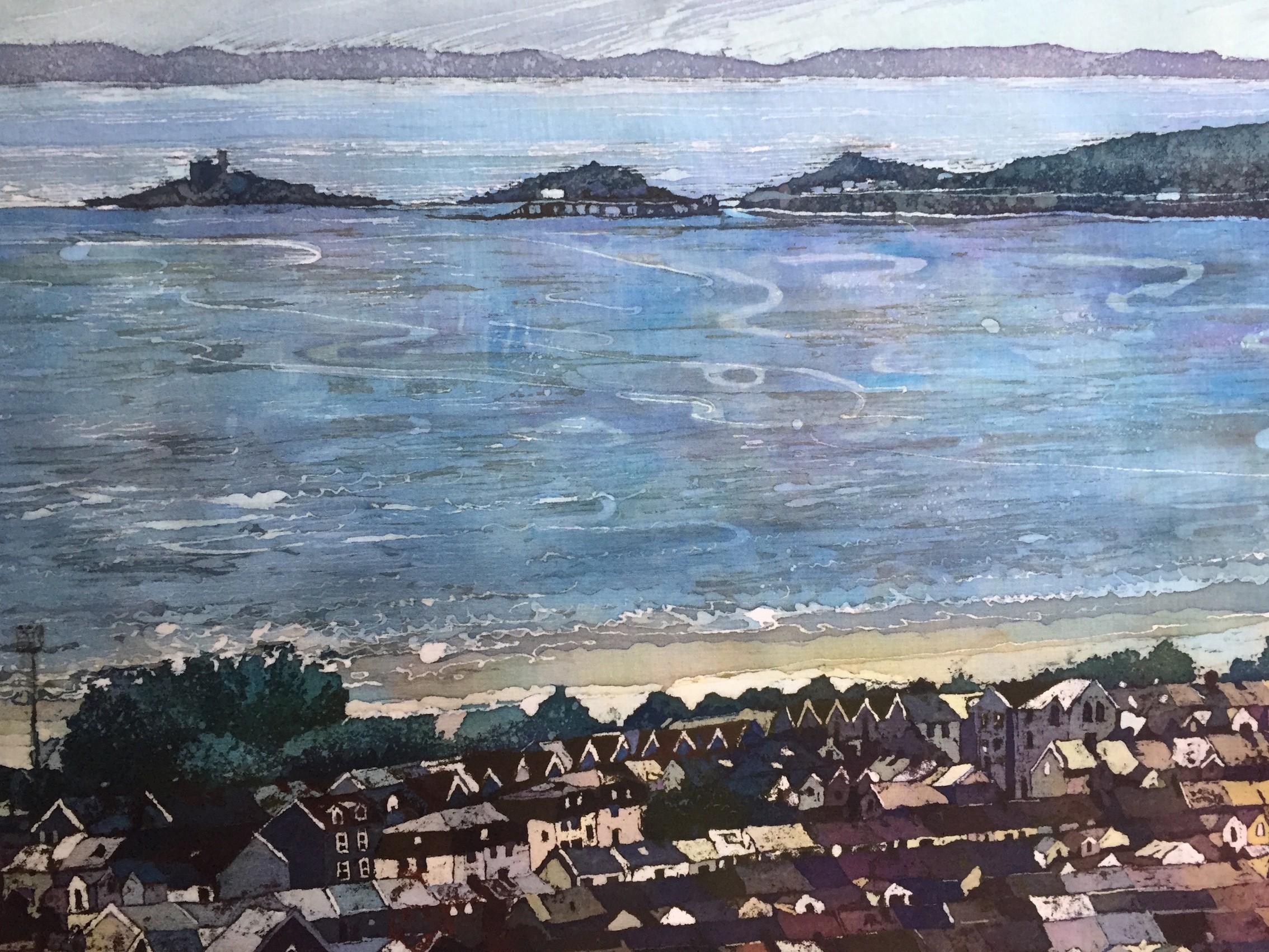 1:Rhona Tooze 'Swansea Bay Panorama' (35 x 94 CM) Batik
