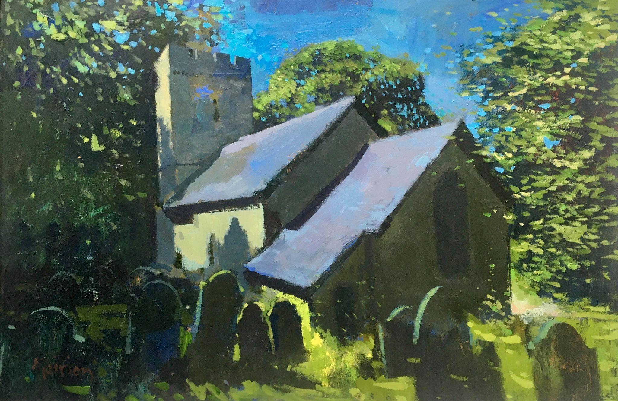 St. Illtyd's, Oxwich   40 x 59 cm   Acrylic