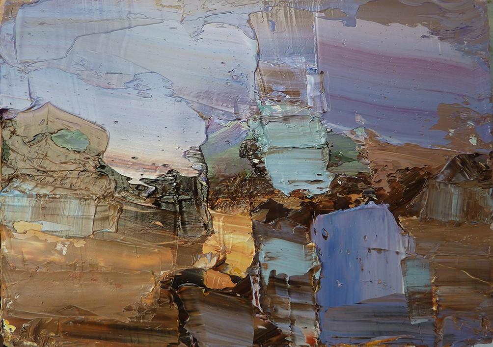 """Rough Coast"" oil on board (13x18 cms)"