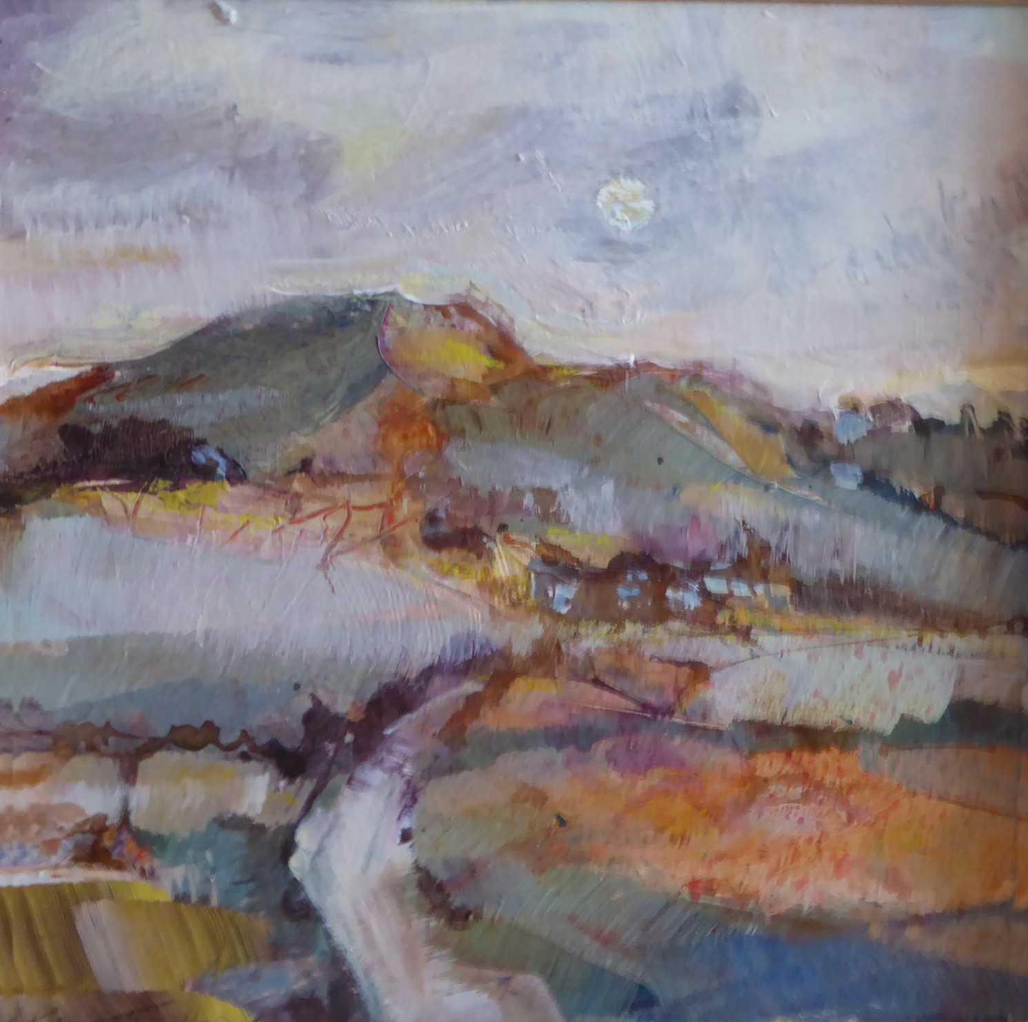 Path to the Moon   27 x 27 cm   Acryic on board