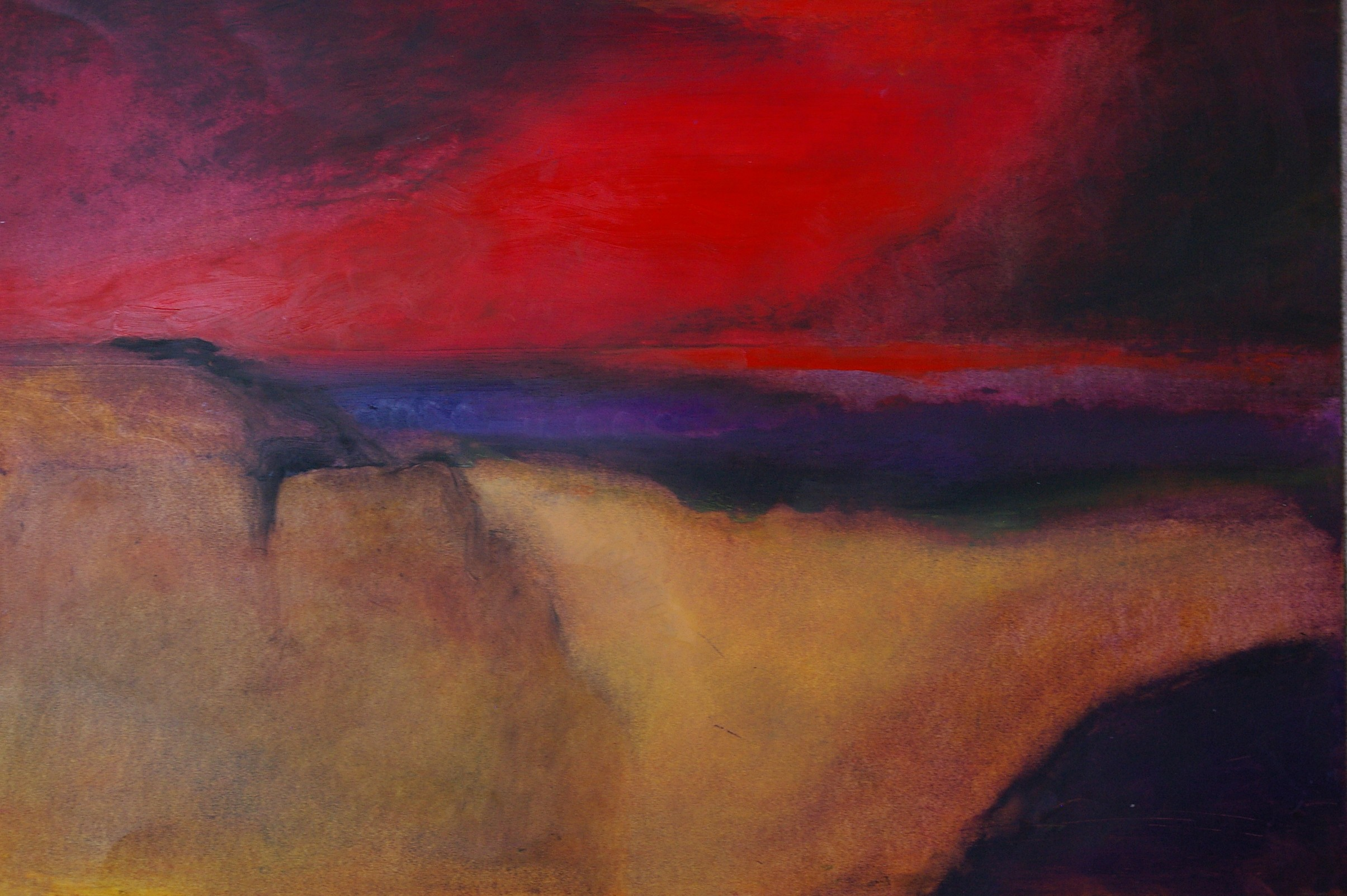 Impending Storm   42 x 60 cm   Oil on paper