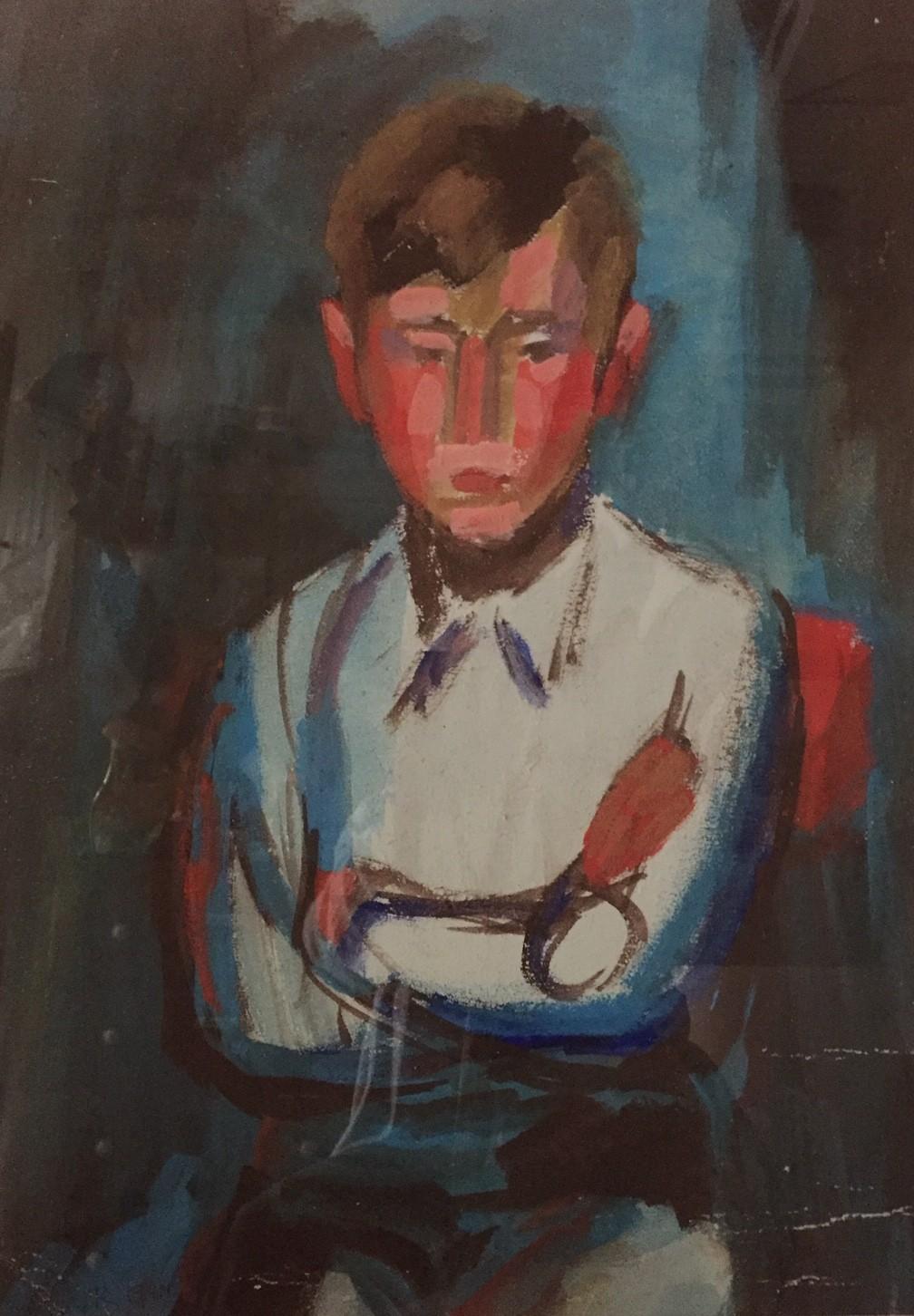 A Boy   20.5x15 ins   Watercolour