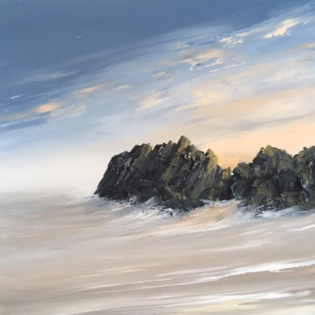 "9, Nick John Rees ""Alfred Sisley's Rock - Rotherslade''"