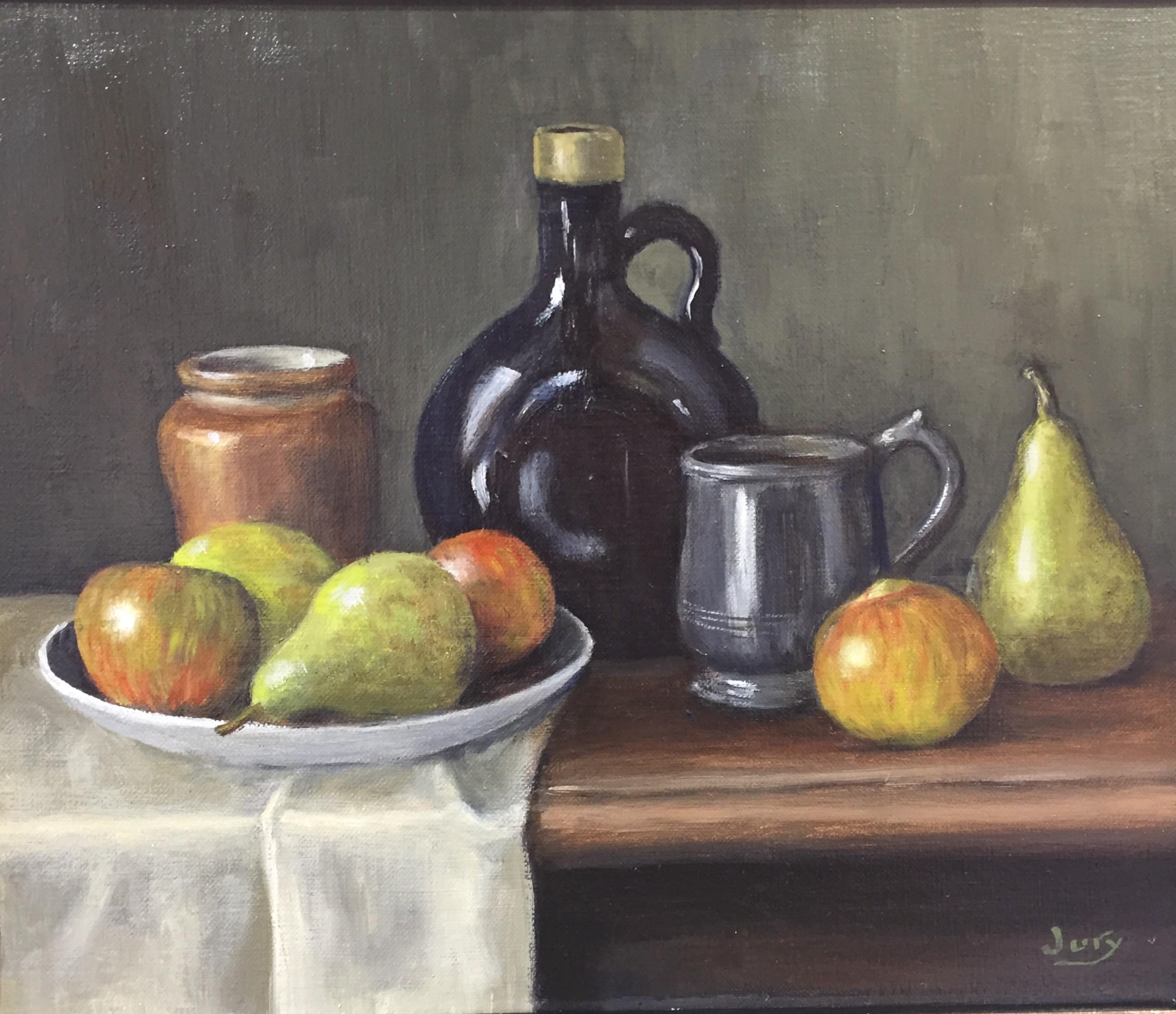 Apples & Pears, Oil, 24.5 x 29.5 cm, £350.jpg