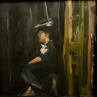Actress in the Wings    22 x 22 cm     Oil