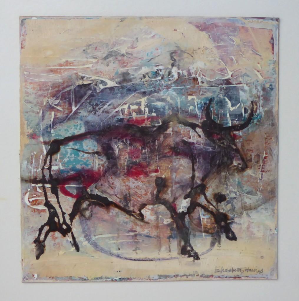 Cave Bull     30 x 30 cm    Mixed Media