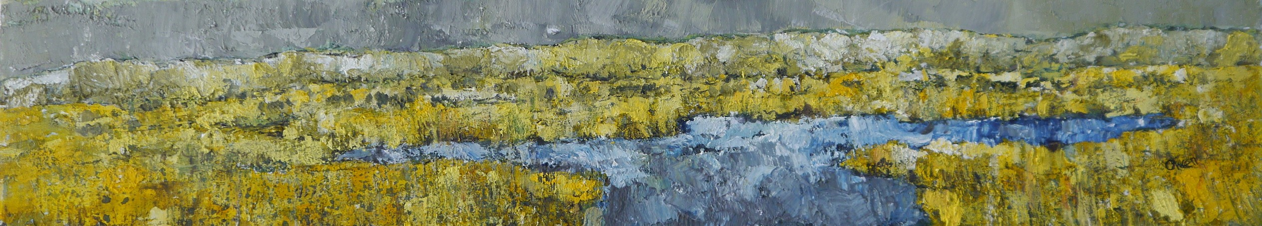 Cors Caron   90x20 cm    Acrylic on Canvas   UNFRAMED