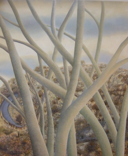 "Sara Philpott "" The tree that woke me"" (30""x25"") oil on board."