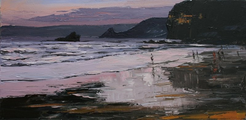 Evening Broad Haven £595 61x30.5 cm. oil on canvas