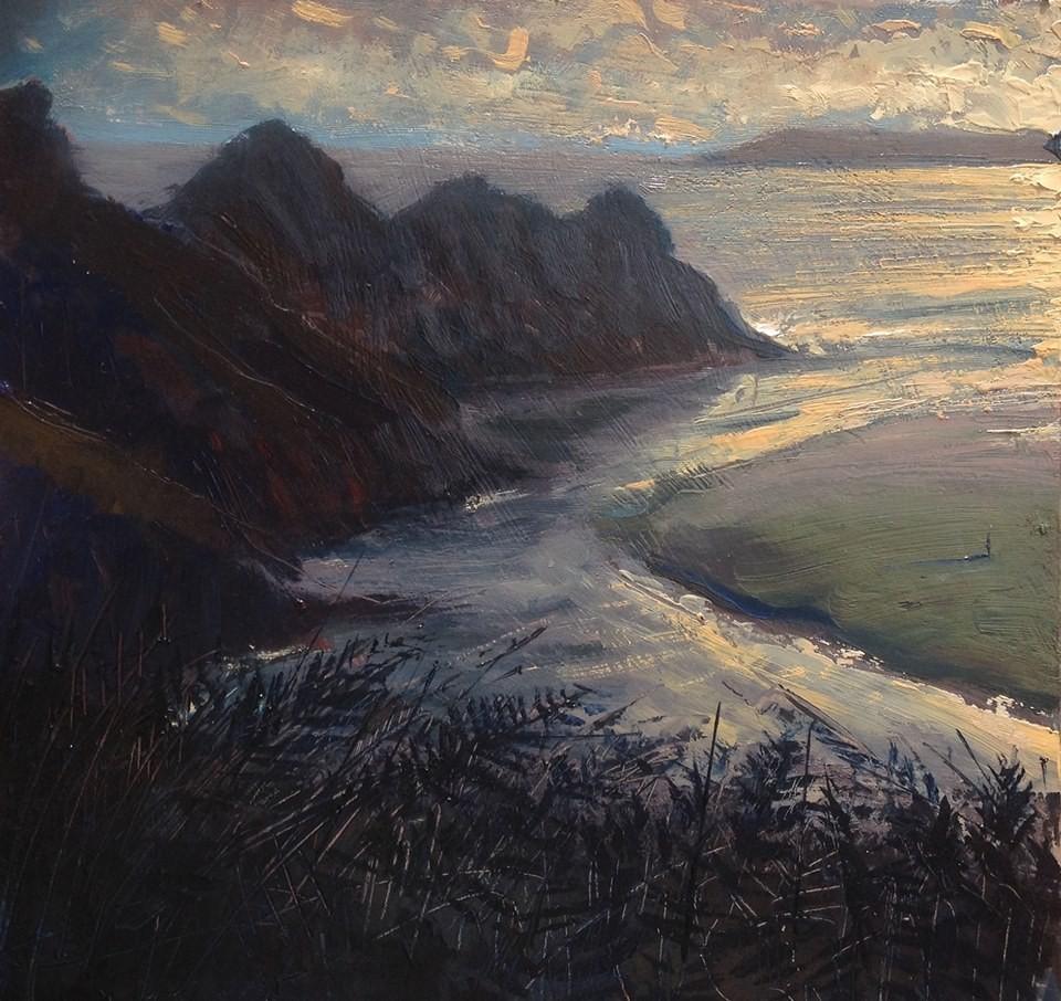 7.Thomas Haskett 'Evening light, Three cliffs bay'