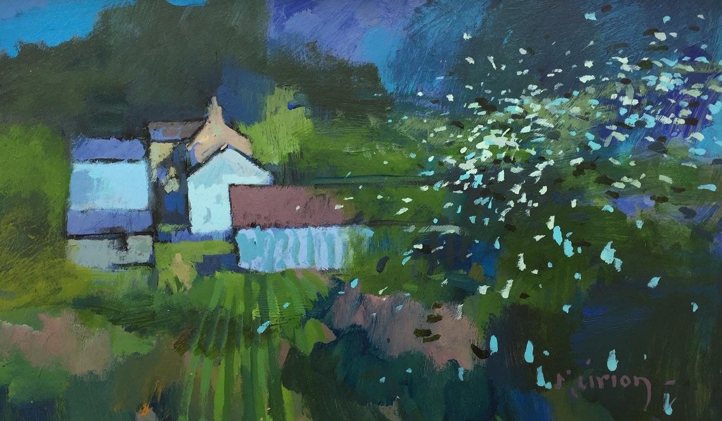 """""""Fedwen Arian (Silver Birch)"""", Acrylic, (29 x 50 cm)"""