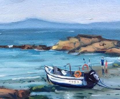 27.Thomas Haskett 'Fishing boat at St Brides'