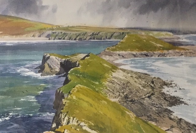From Worms Head    35 x 47 cm    Watercolour