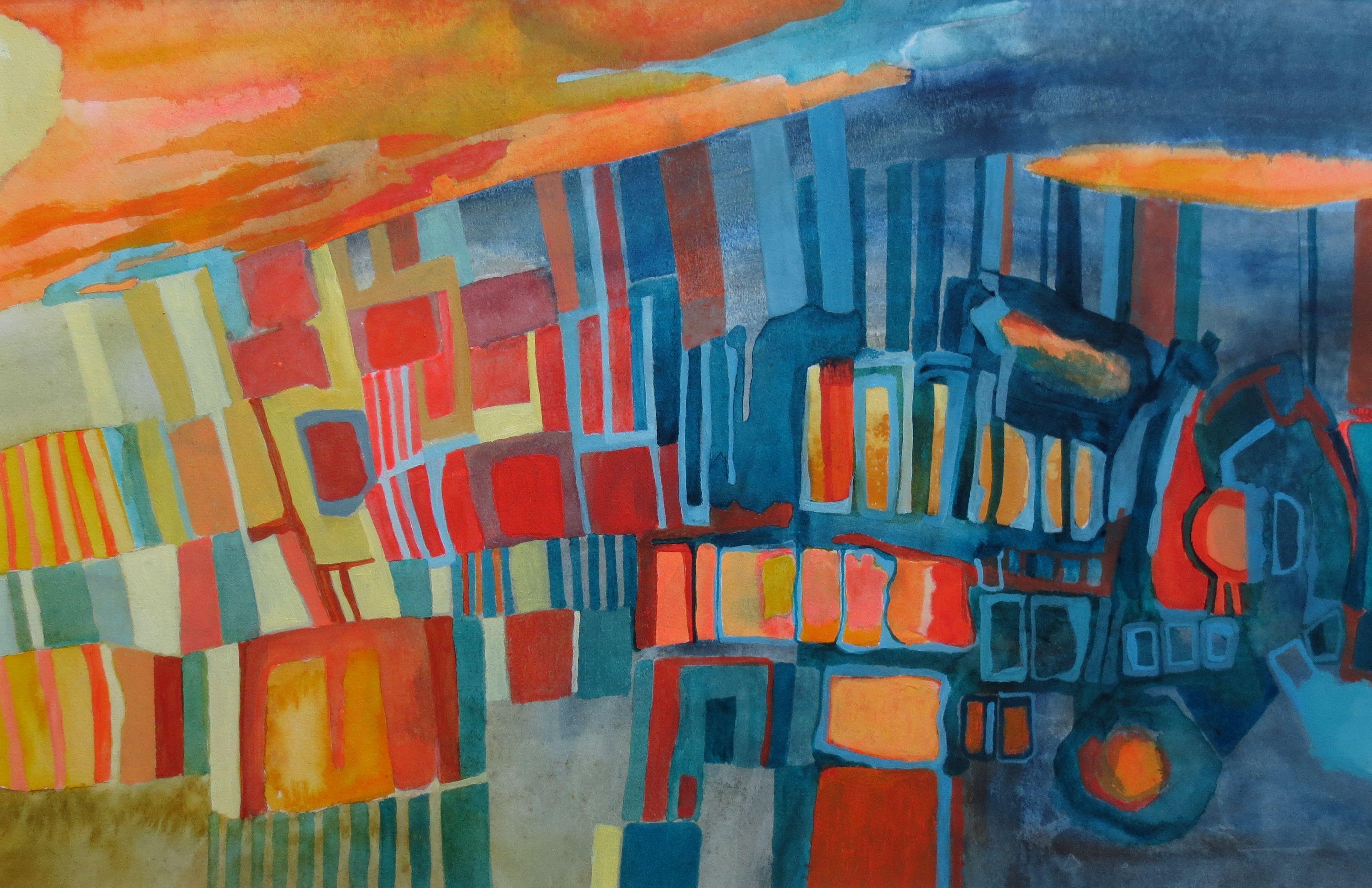 """Carolyn Little """"Fusion 3"""" Acrylic, (51x 33 cm)"""