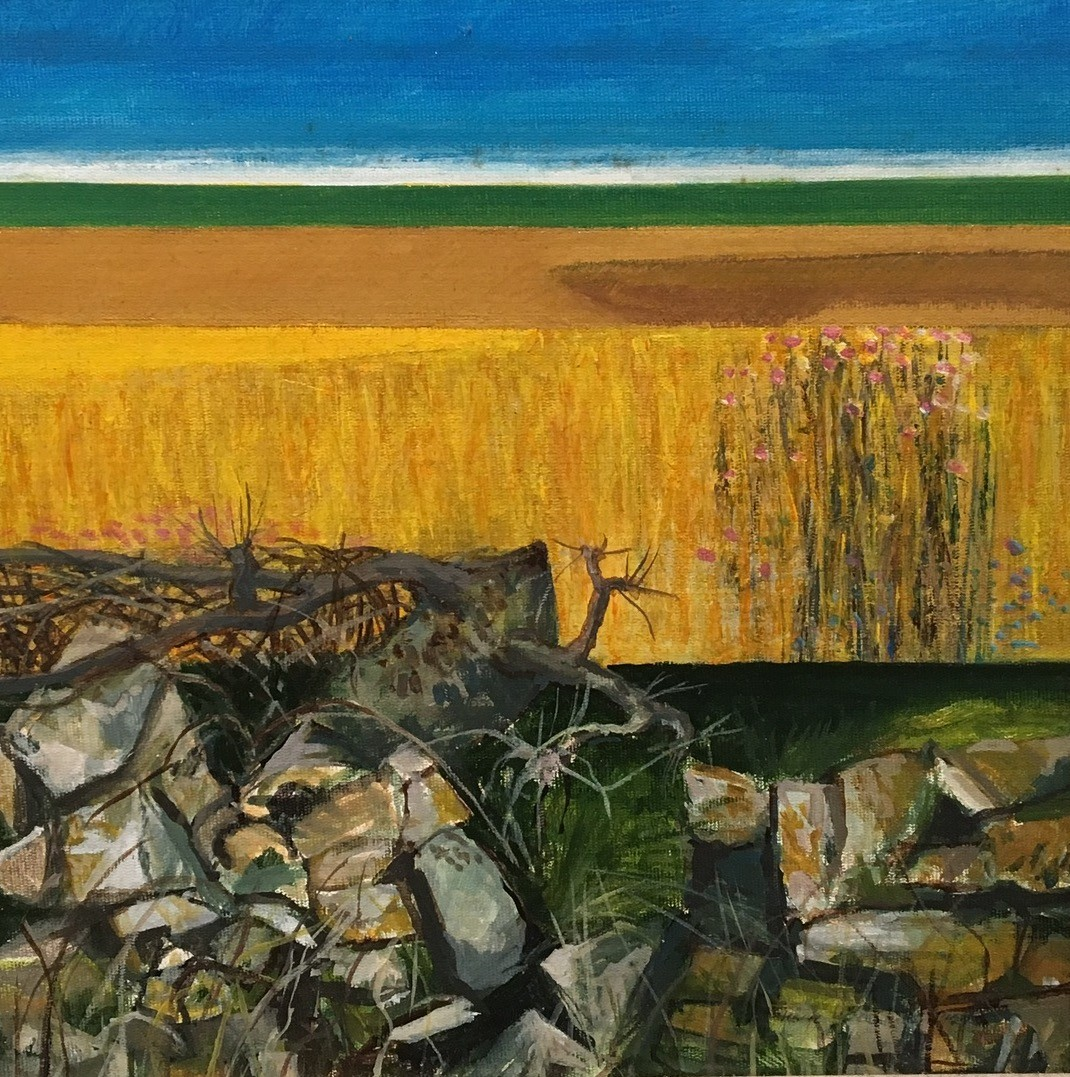 """Gower Landscape the Land1"" Acrylic, (29 x 29 cm)"