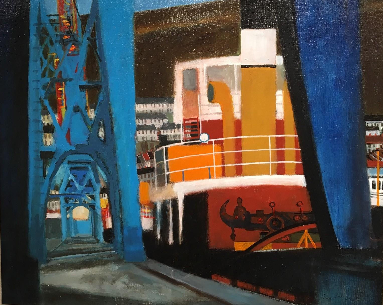 """Dock Fragments Swansea"" Acrylic, (51 x 61 cm)"