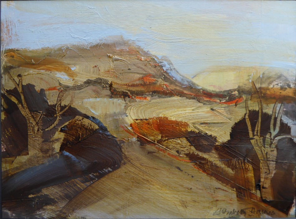 Herefordshire Hill  14x20 cm  Oil on card