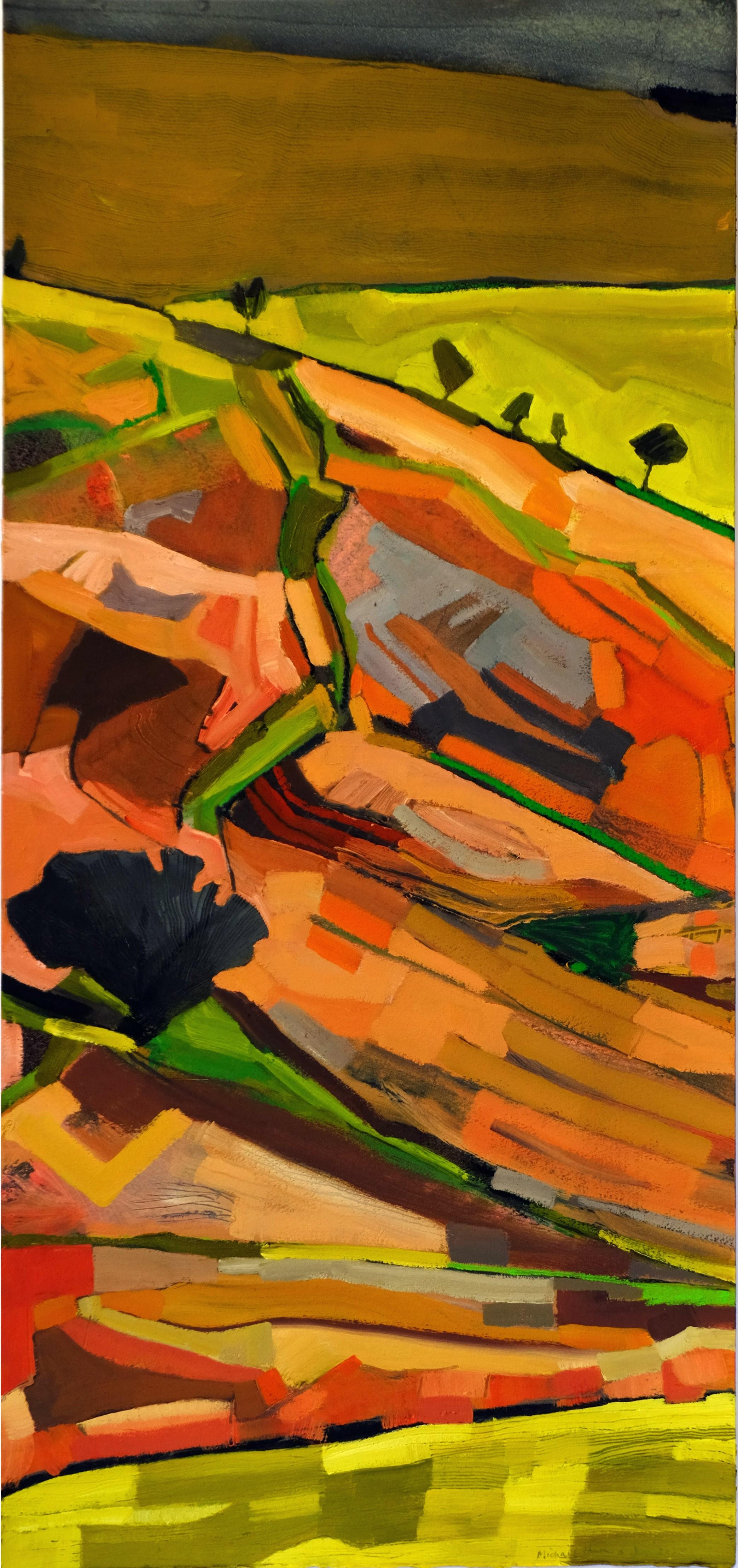 """""""Pentre Dolau Hoddu no.1"""" (30 x 65 cm) Oil on Arches Huile"""