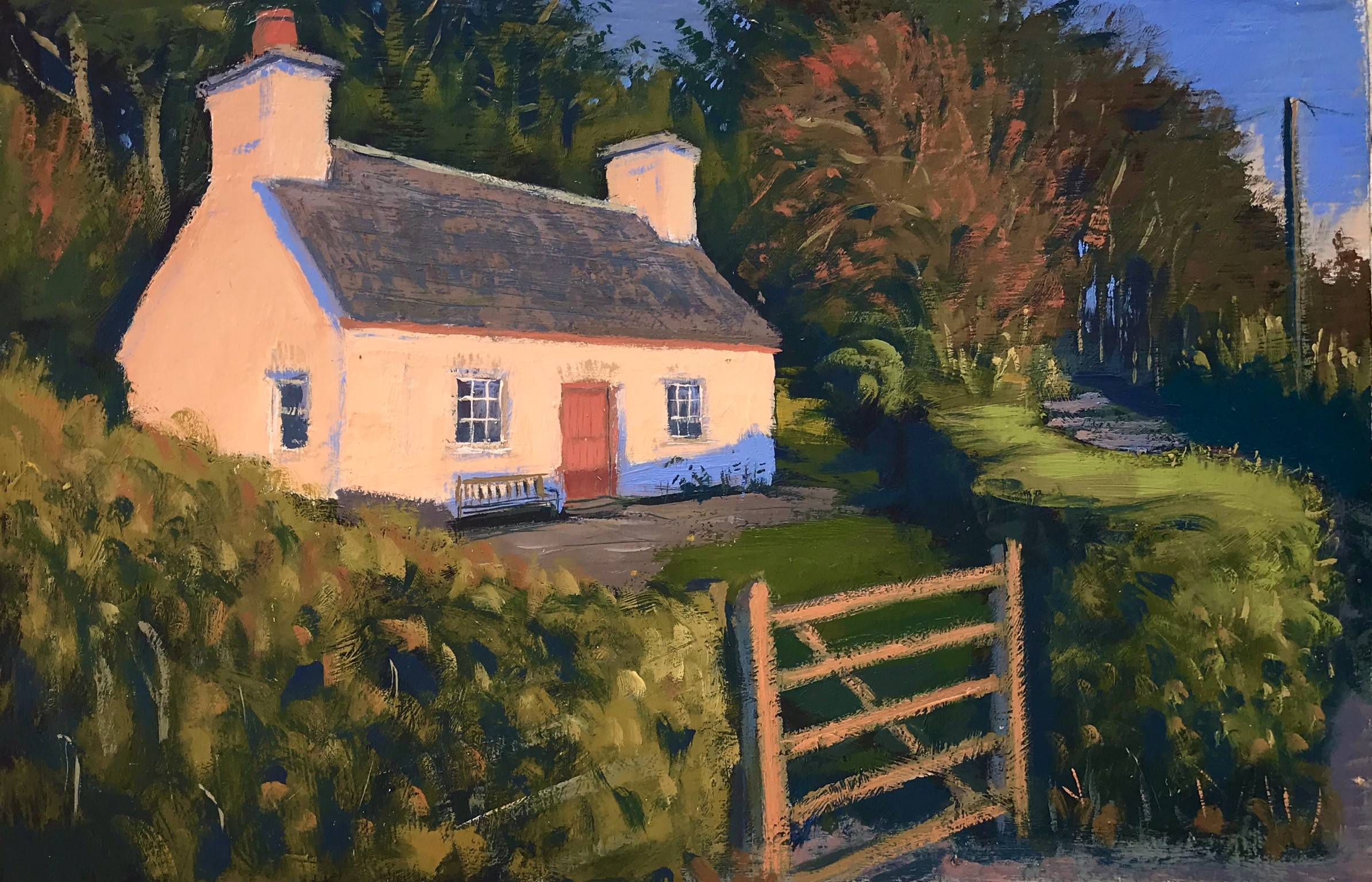 Paxton's Tower Lodge   8x12 ins   Oil on board
