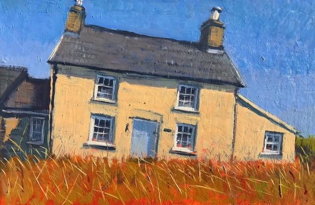 Cottage near Caer Bwdy   7 x 12 ins   Oil