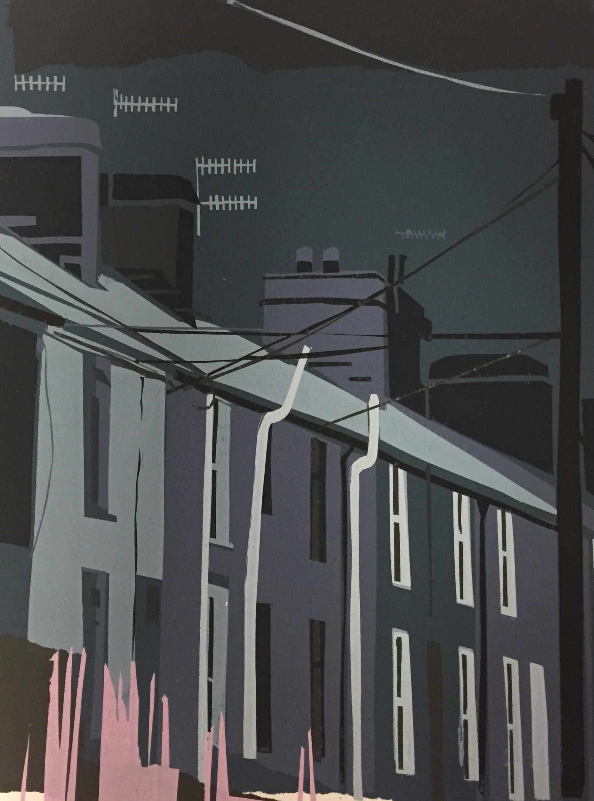 Terrace   12x9 ins   Screenprint  5/10