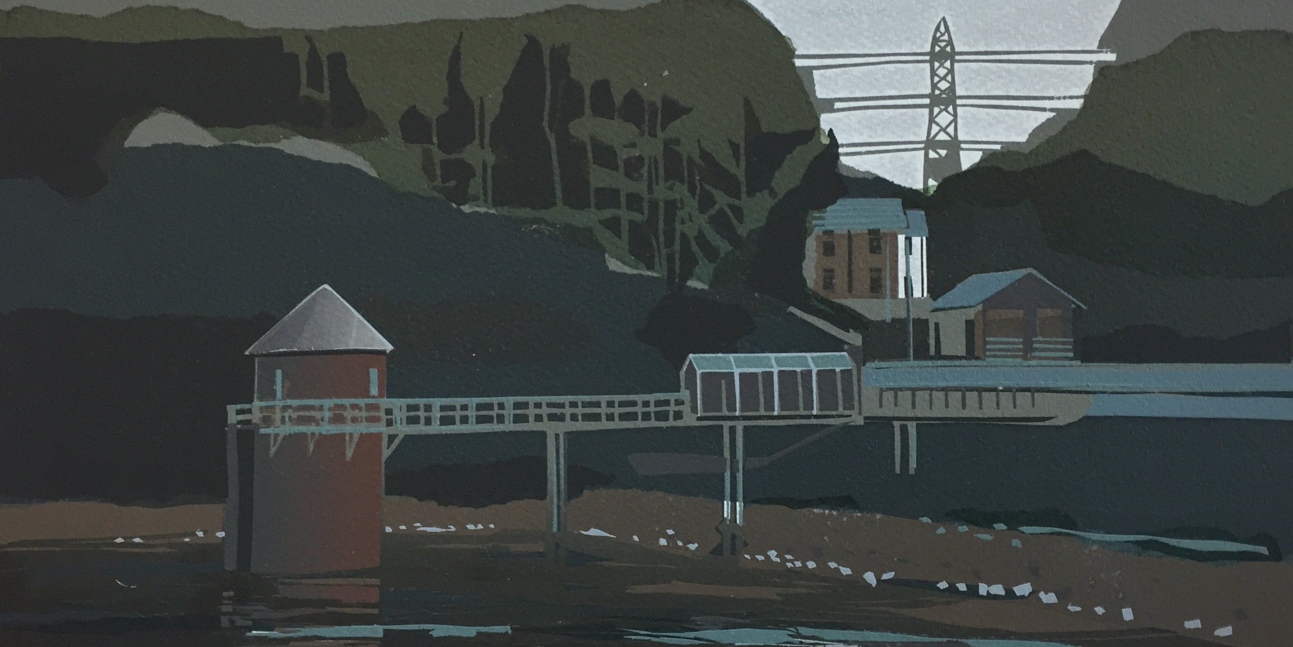 Swiss Valley   8.5x16 ins   Screenprint  2/12
