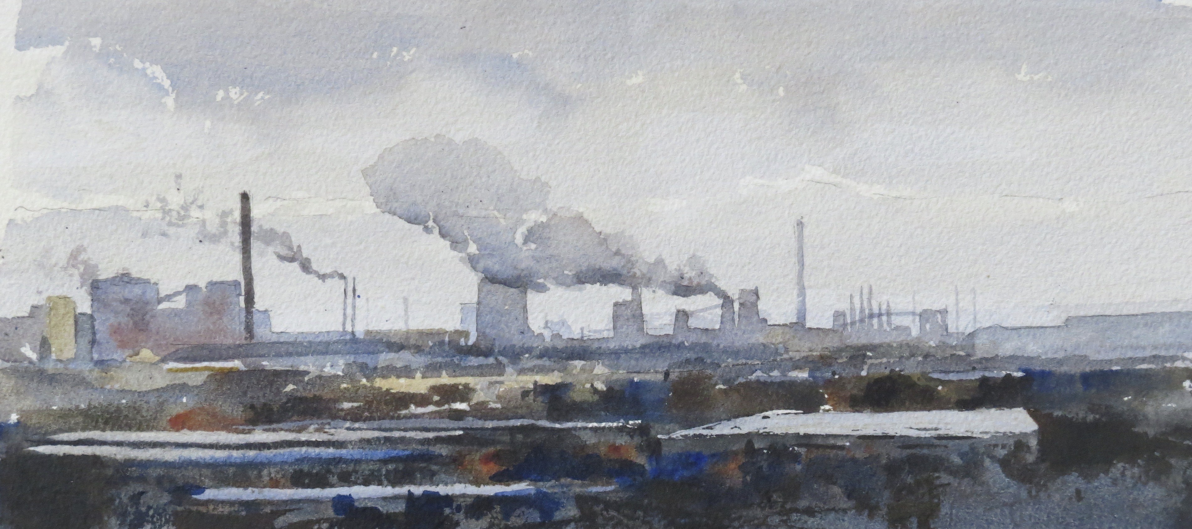 Steelworks Series No.3    15 x 30 cm    Watercolour