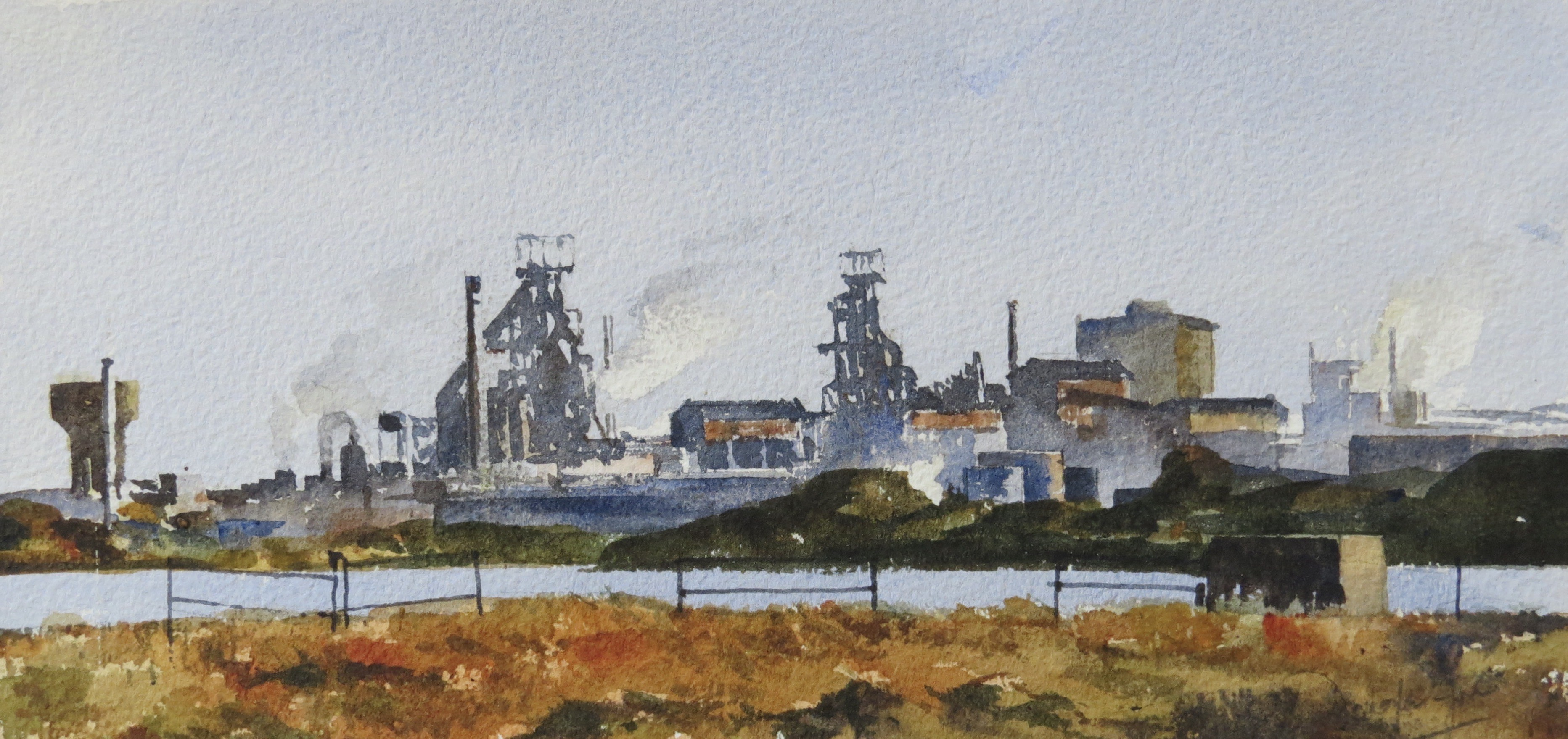 Steelworks Series No.4    15 x 30 cm    Watercolour