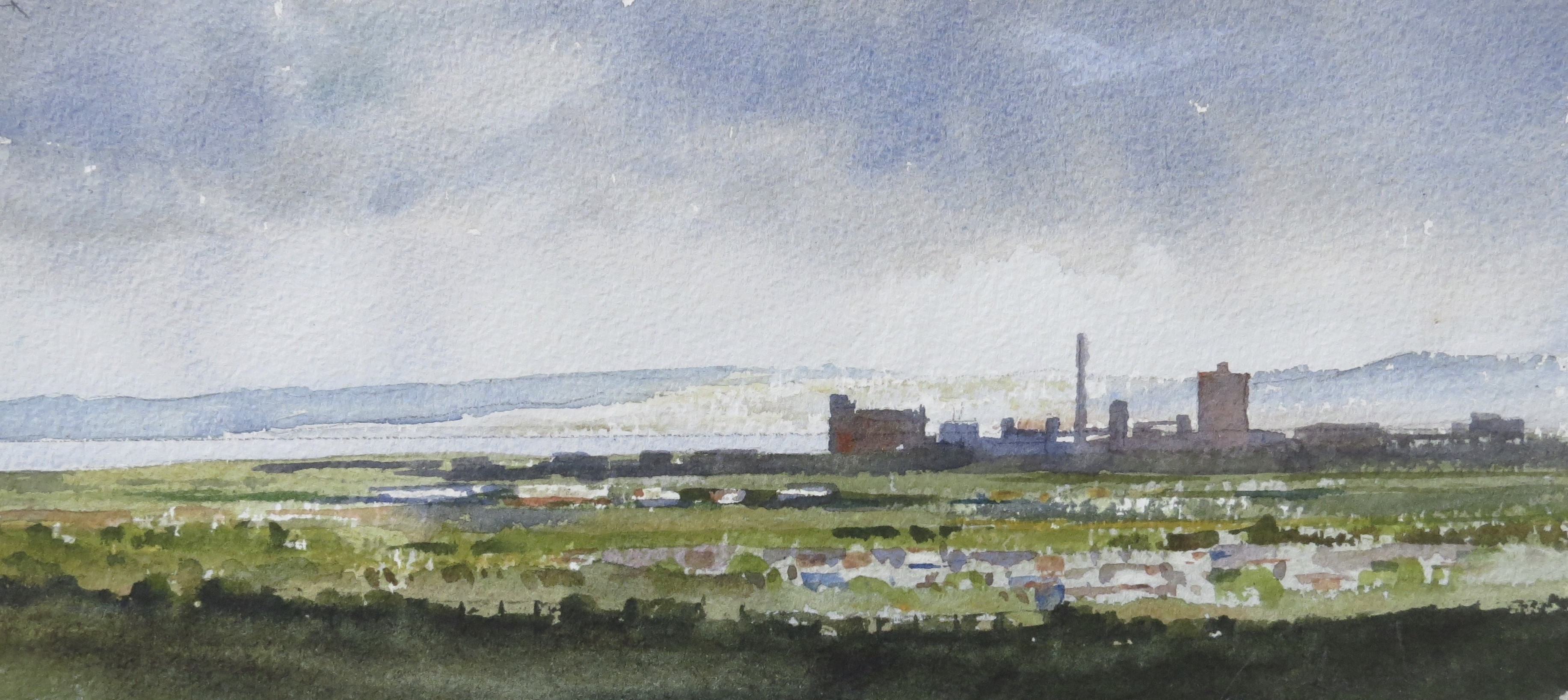 Steelworks Series No.6    15 x 30 cm    Watercolour