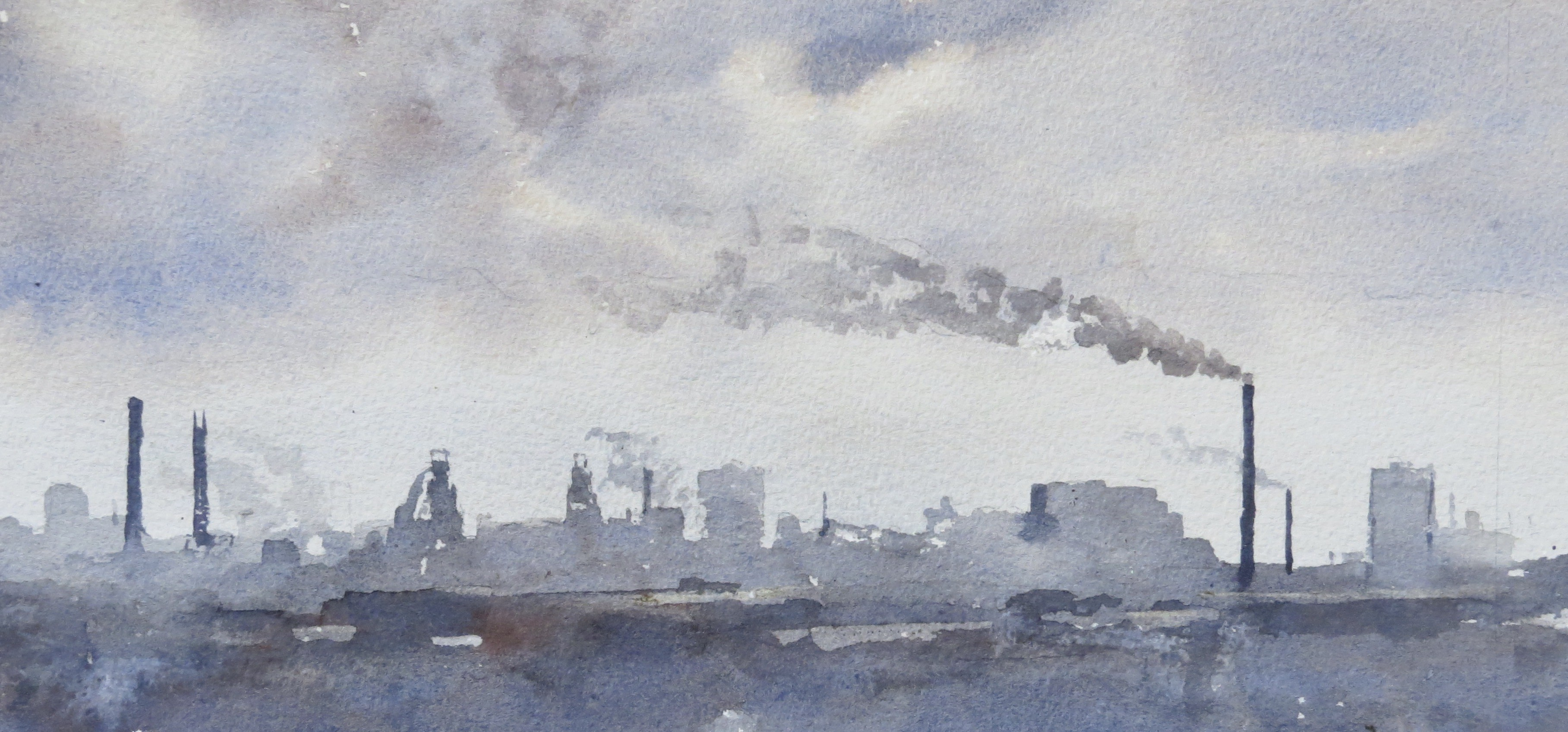 Steelworks Series No.7    15 x 30 cm    Watercolour