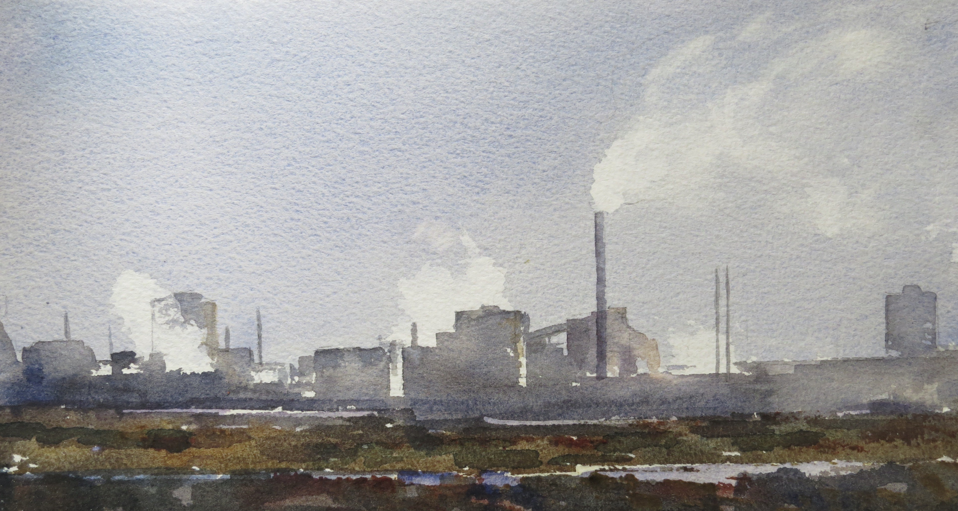 Steelworks Series No.8    15 x 30 cm    Watercolour