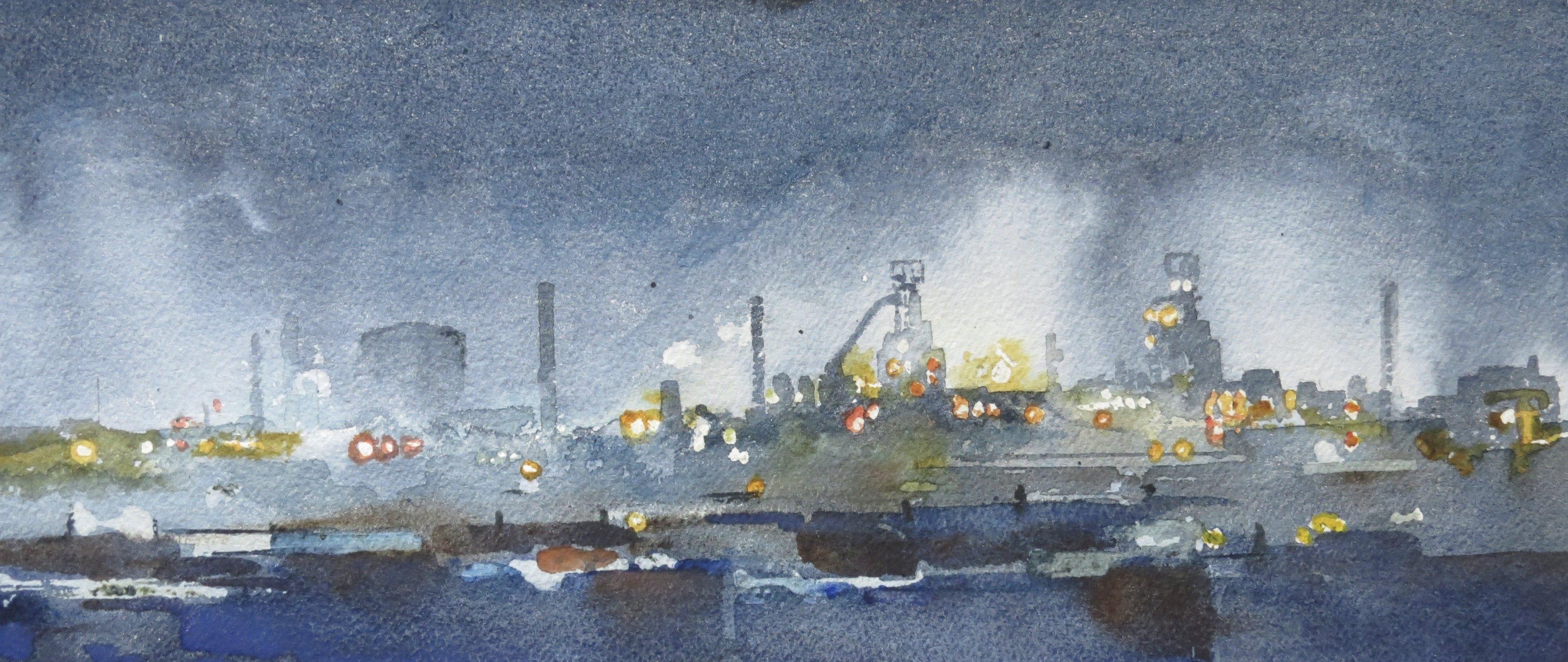 Steelworks Series No.9    16 x 38 cm    Watercolour