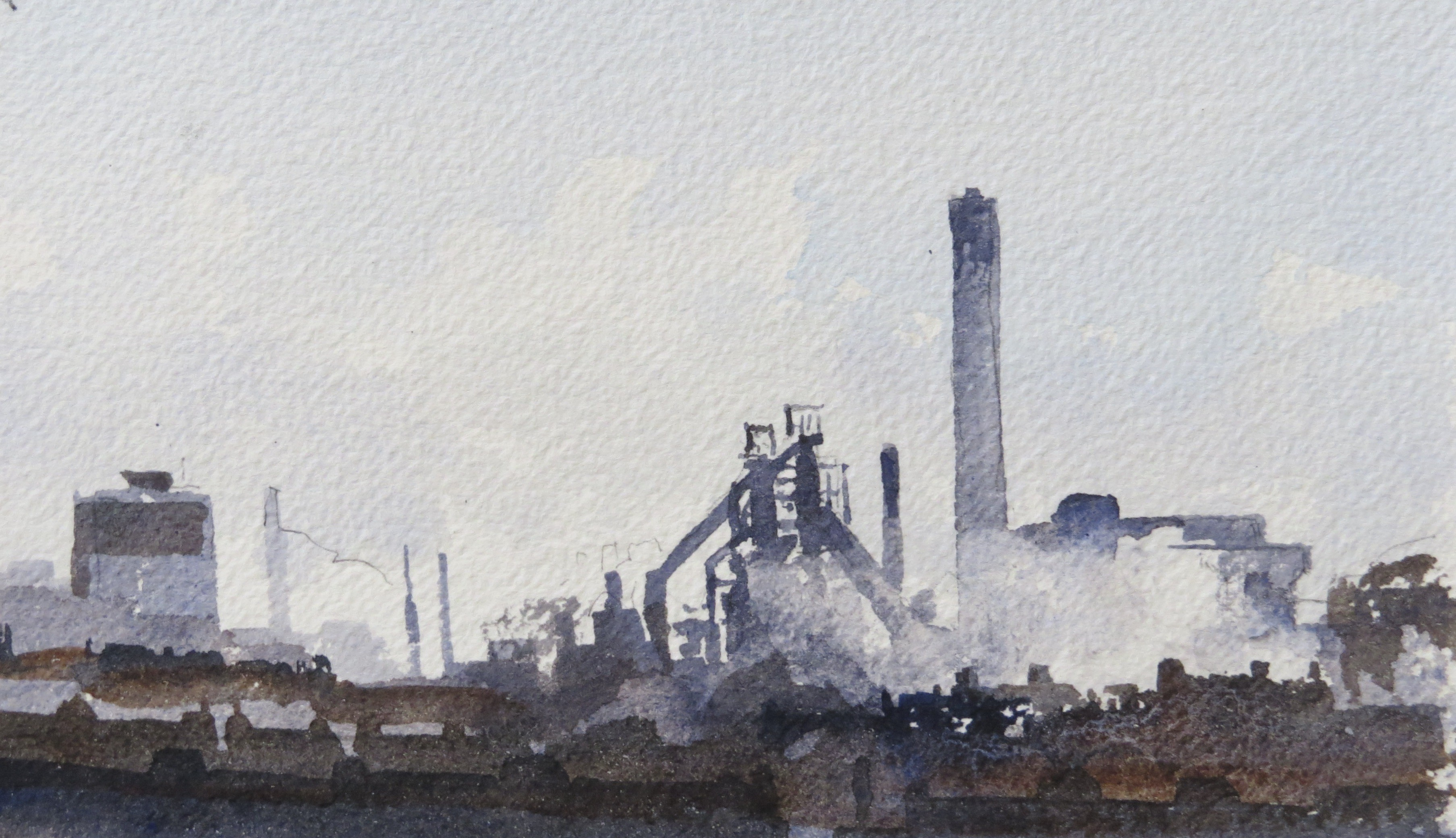 Steelworks Series No.13    11 x 18 cm    Watercolour