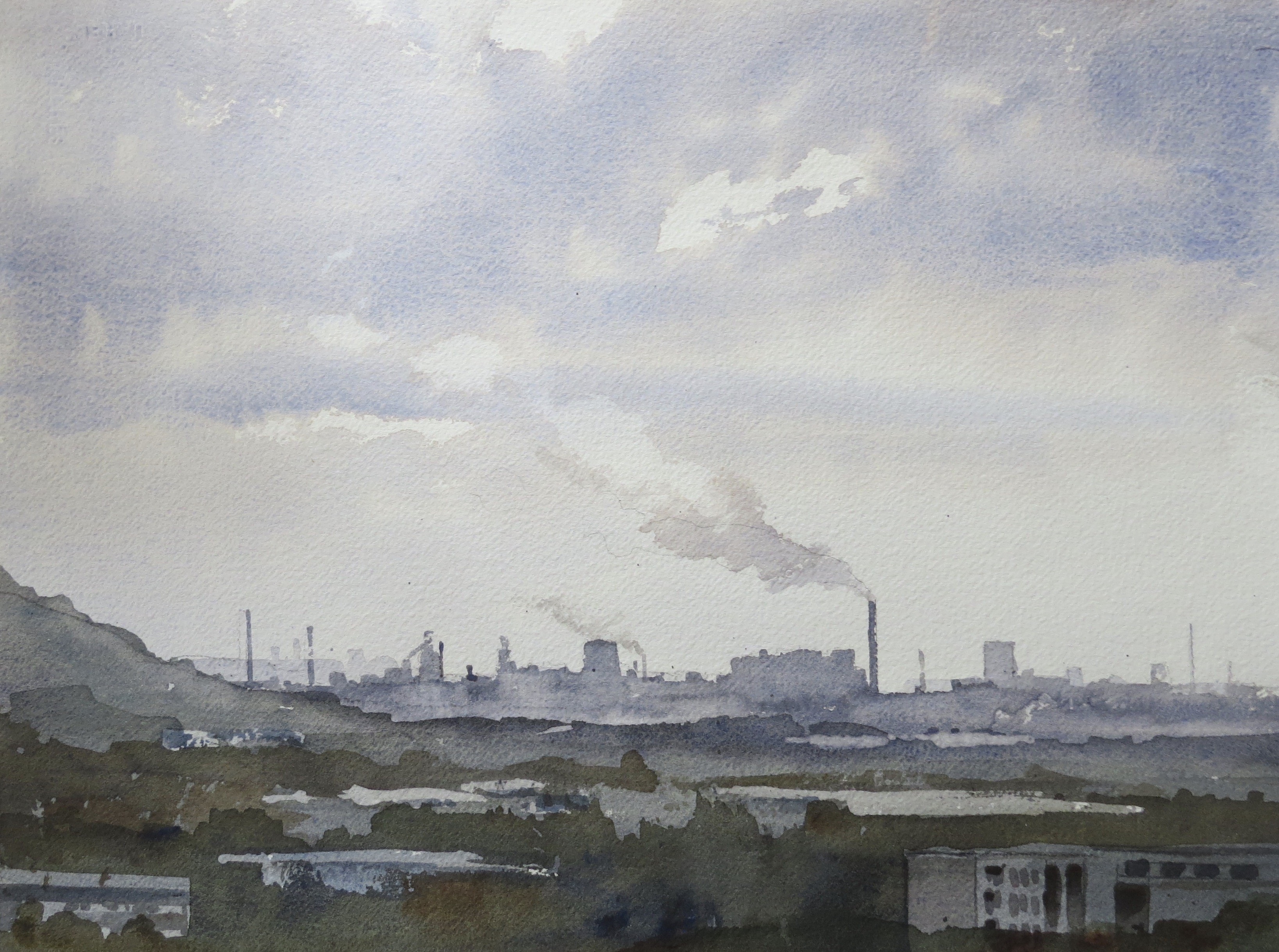 Steelworks Series No.14    28 x 38 cm    Watercolour