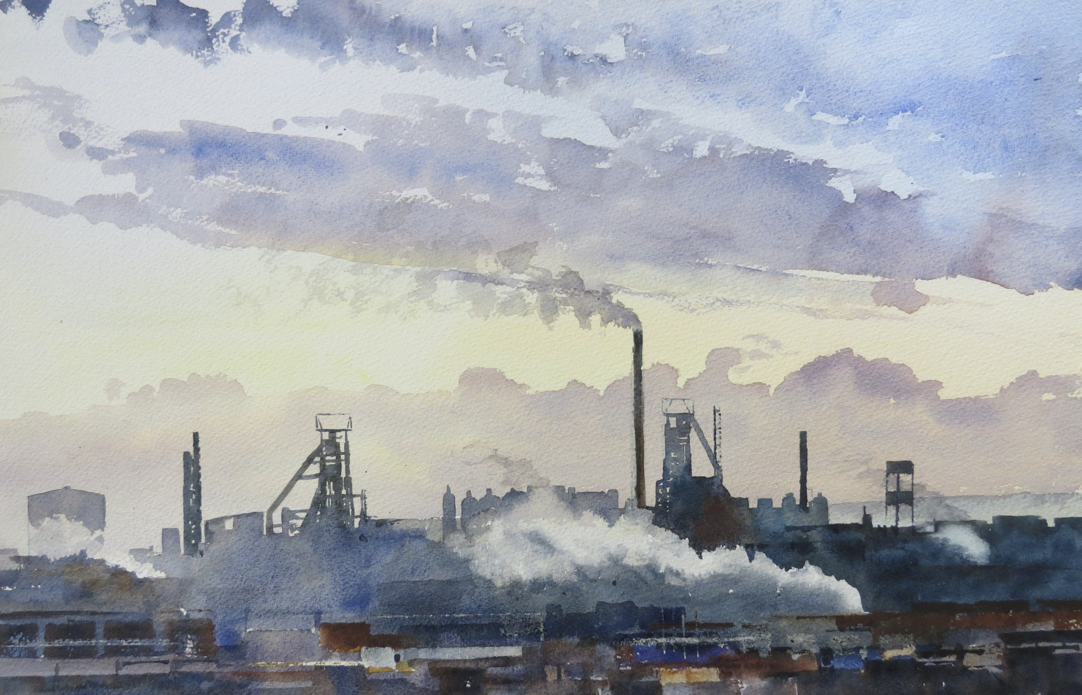 Steelworks Series No.18    33 x 50 cm    Watercolour