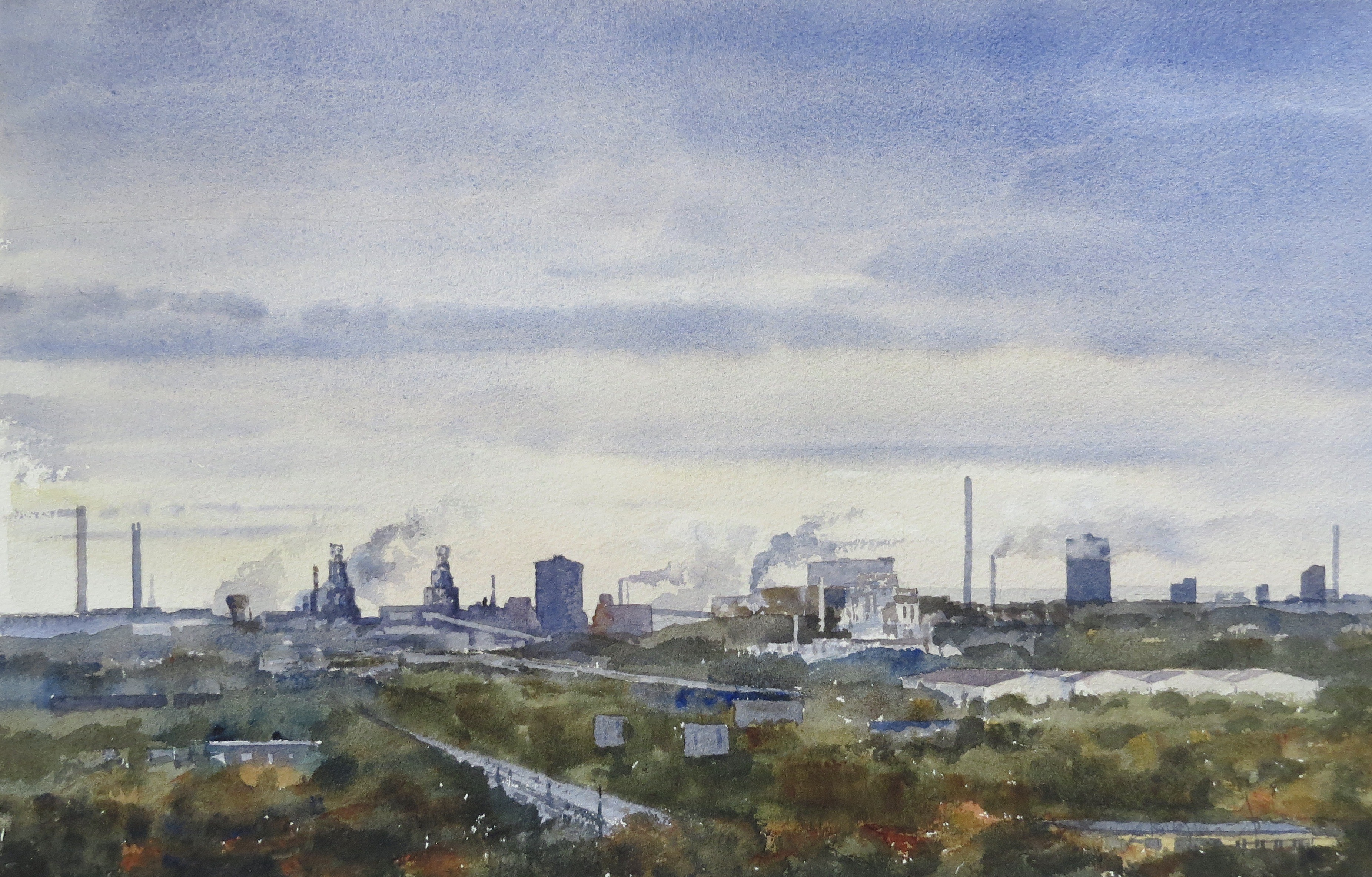 Steelworks Series No.19    33 x 50 cm    Watercolour
