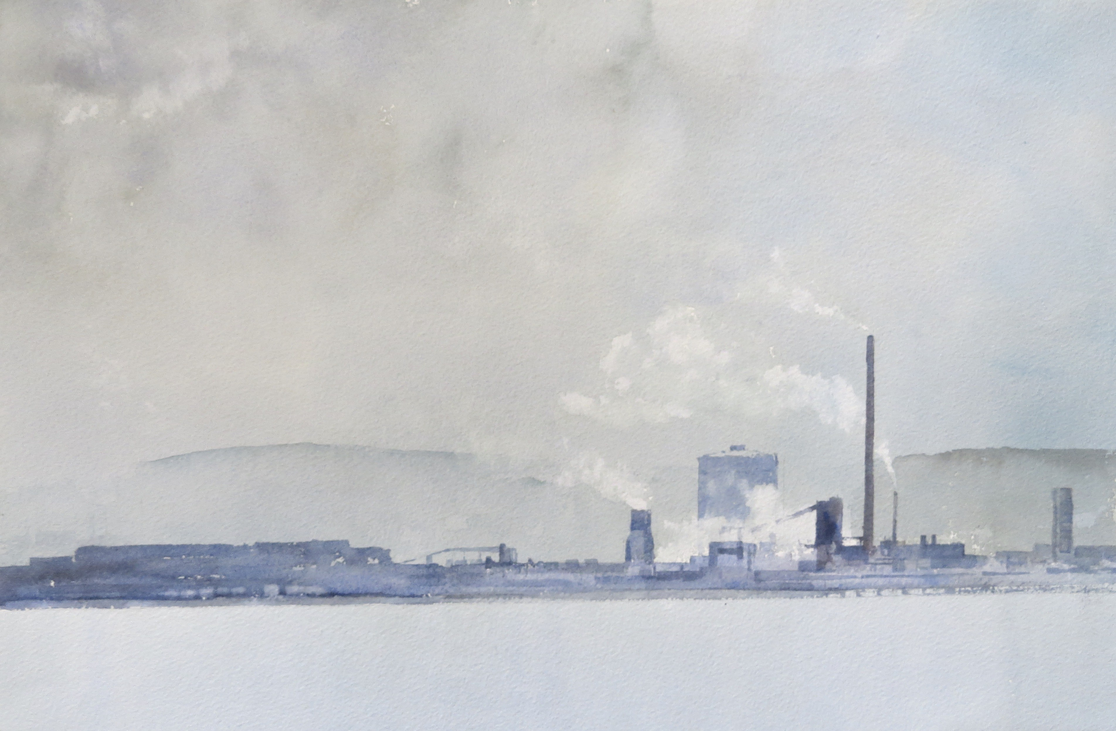 Steelworks Series No.20   33 x 50 cm    Watercolour