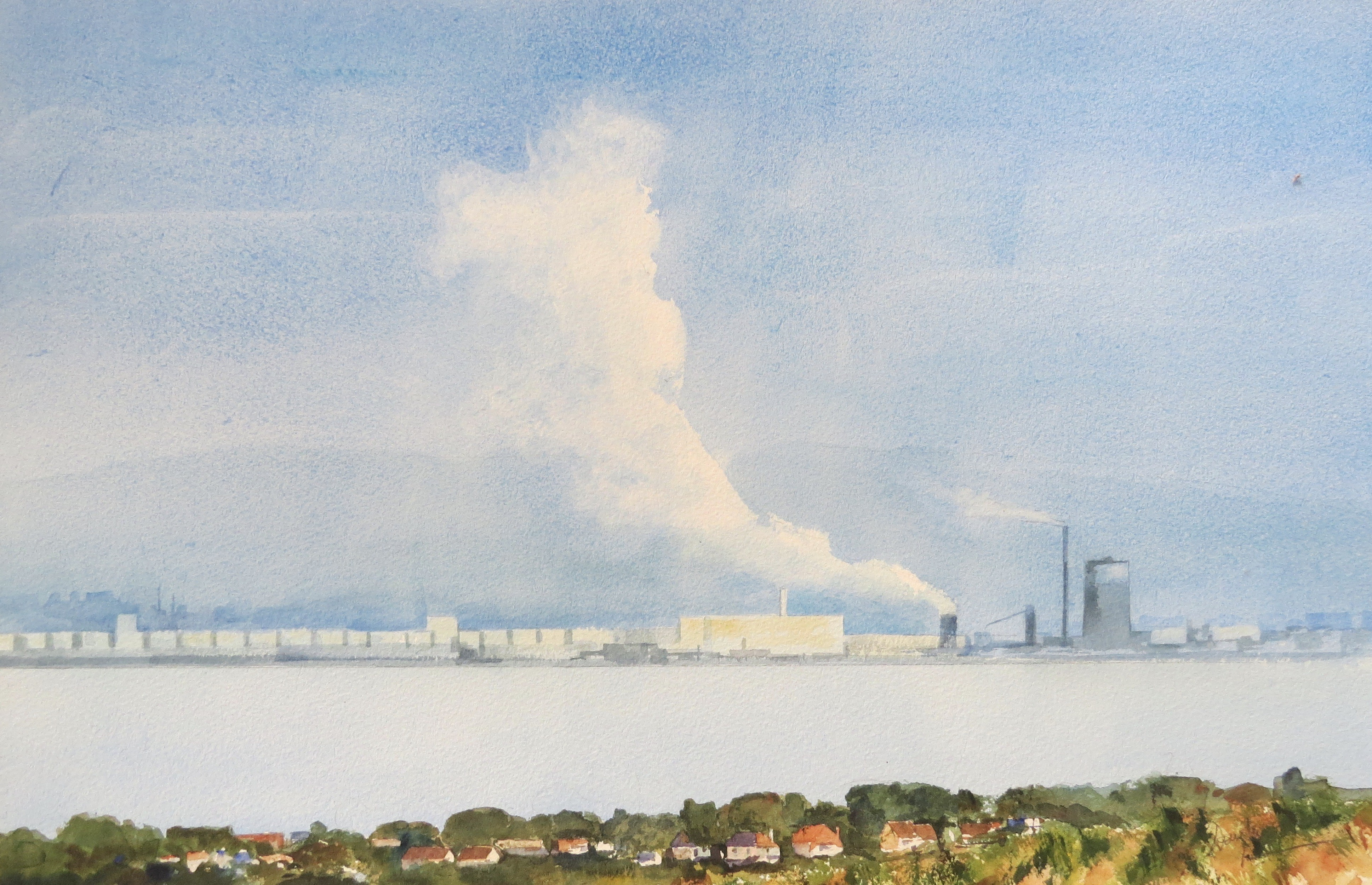 Steelworks Series No.21    33 x 50 cm    Watercolour