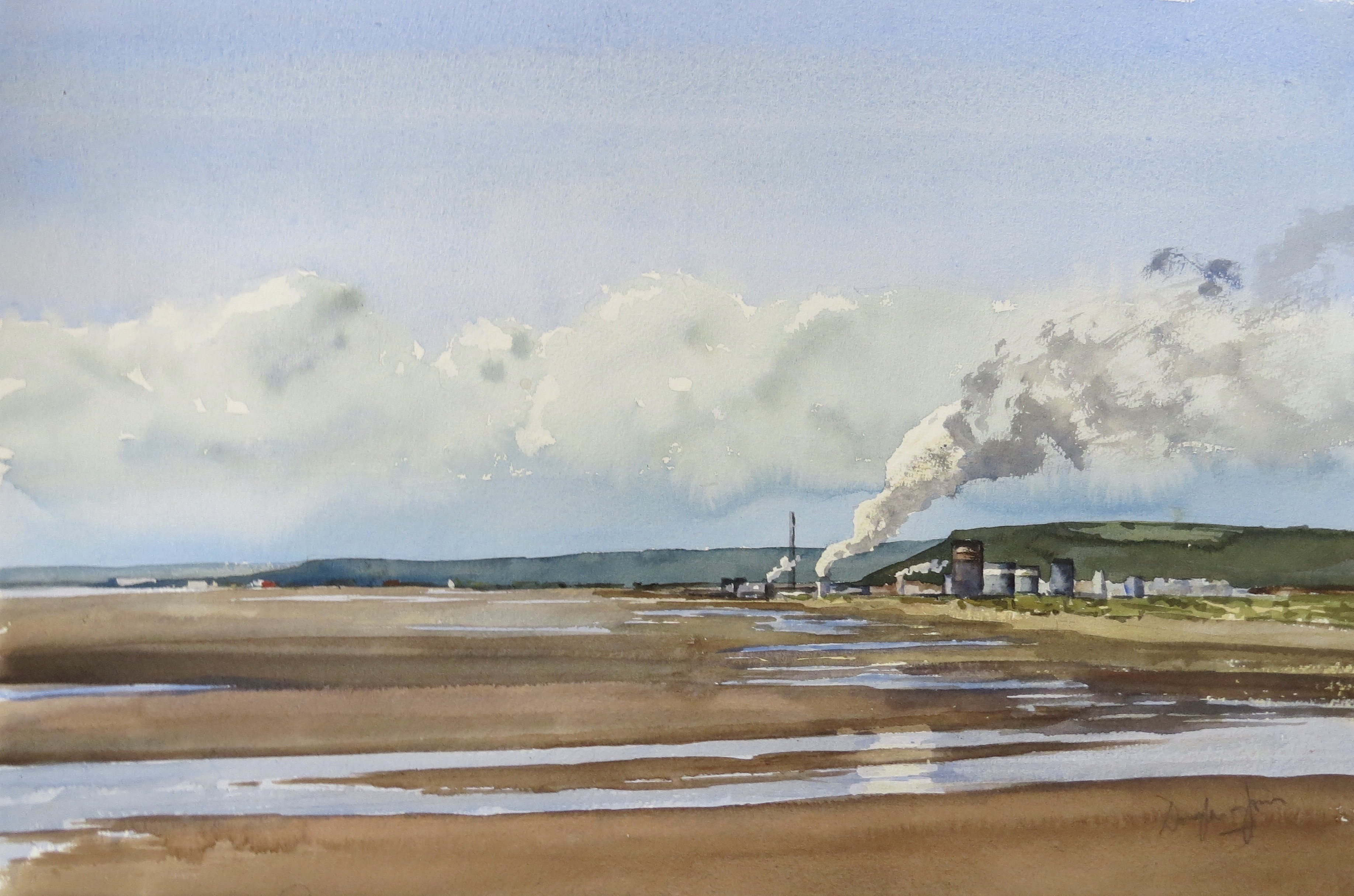 Steelworks Series No.23    33 x 50 cm    Watercolour
