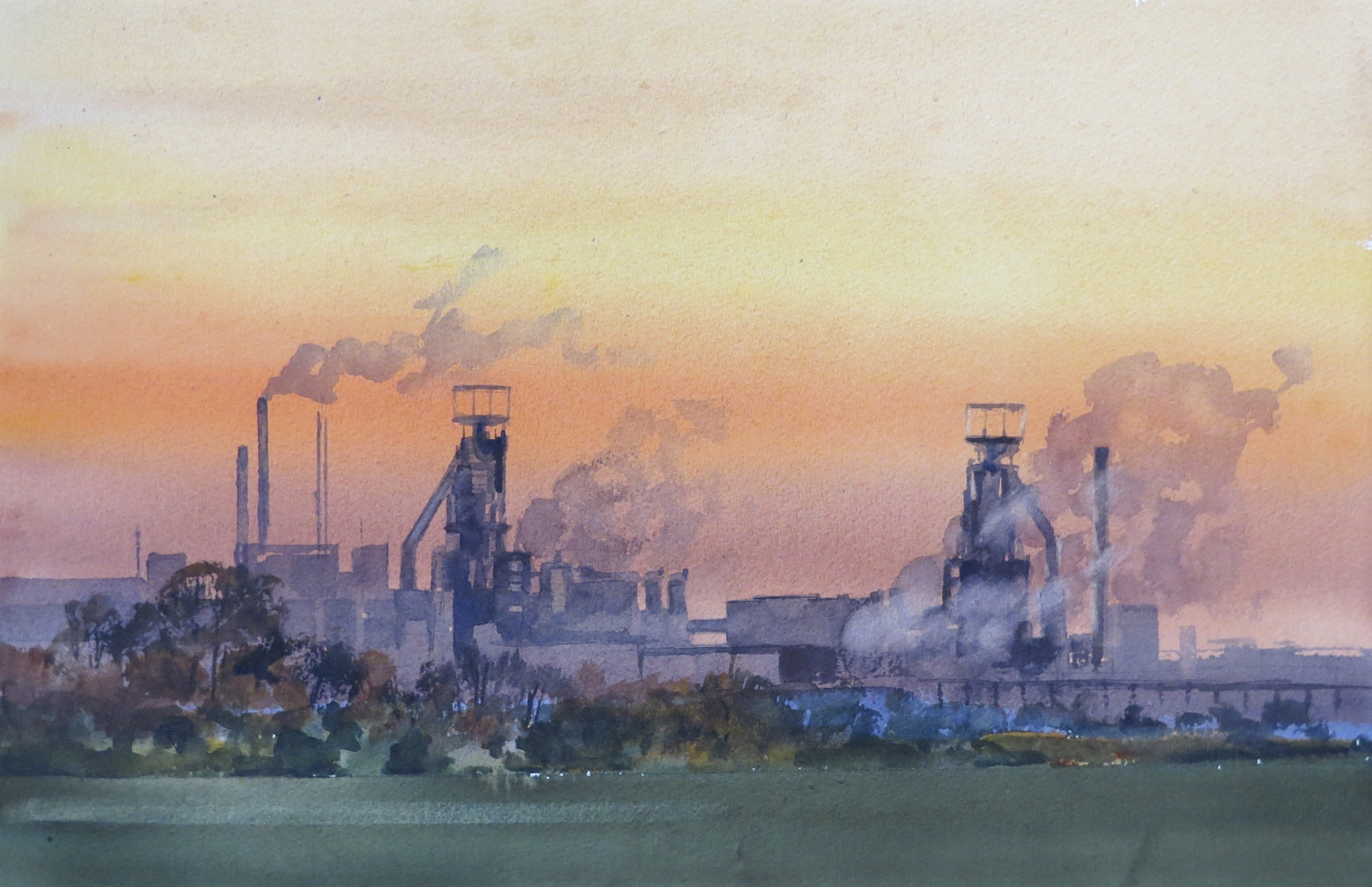 Steelworks Series No.24    33 x 50 cm    Watercolour