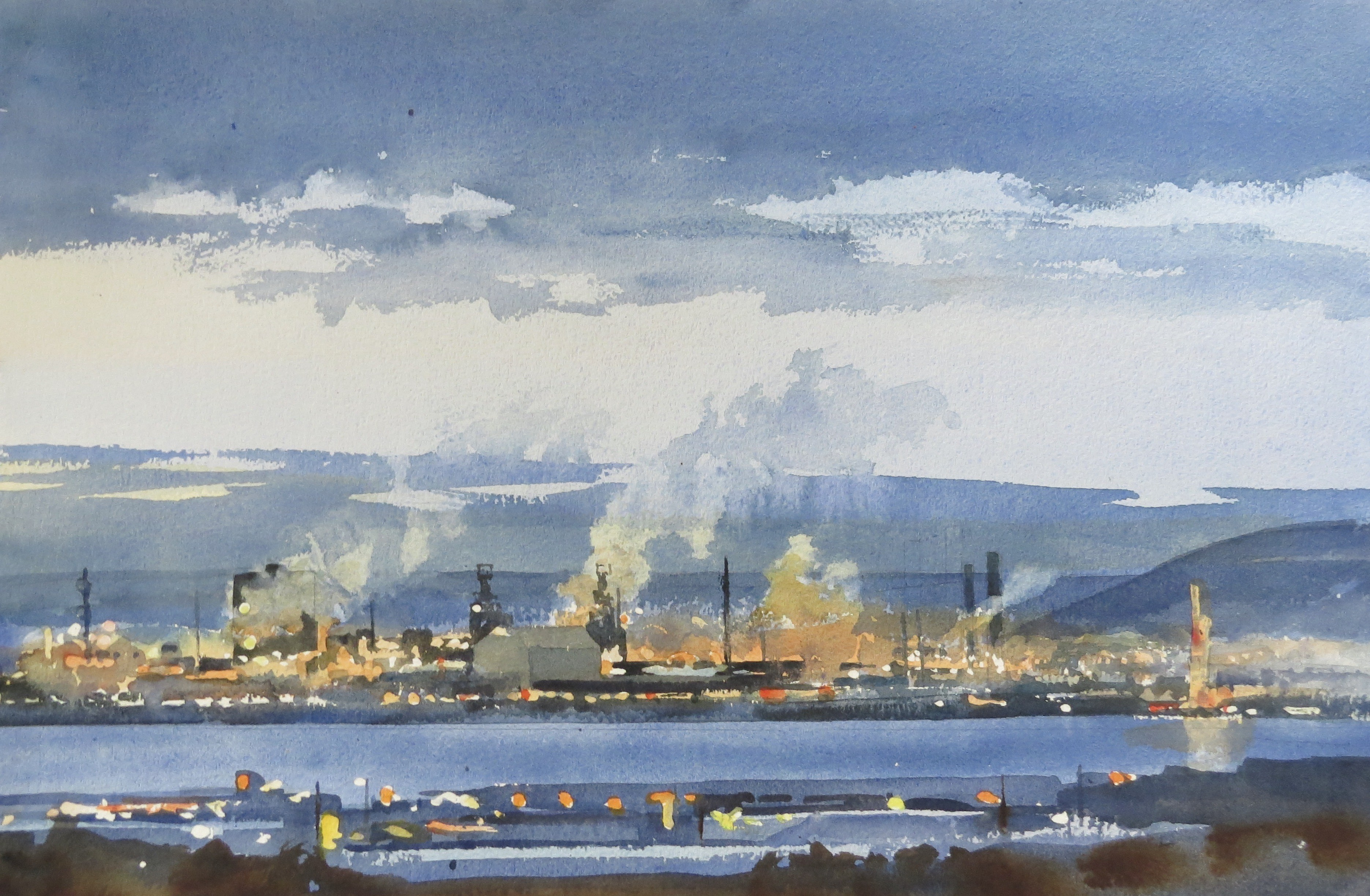 Steelworks Series No.25    33 x 50 cm    Watercolour