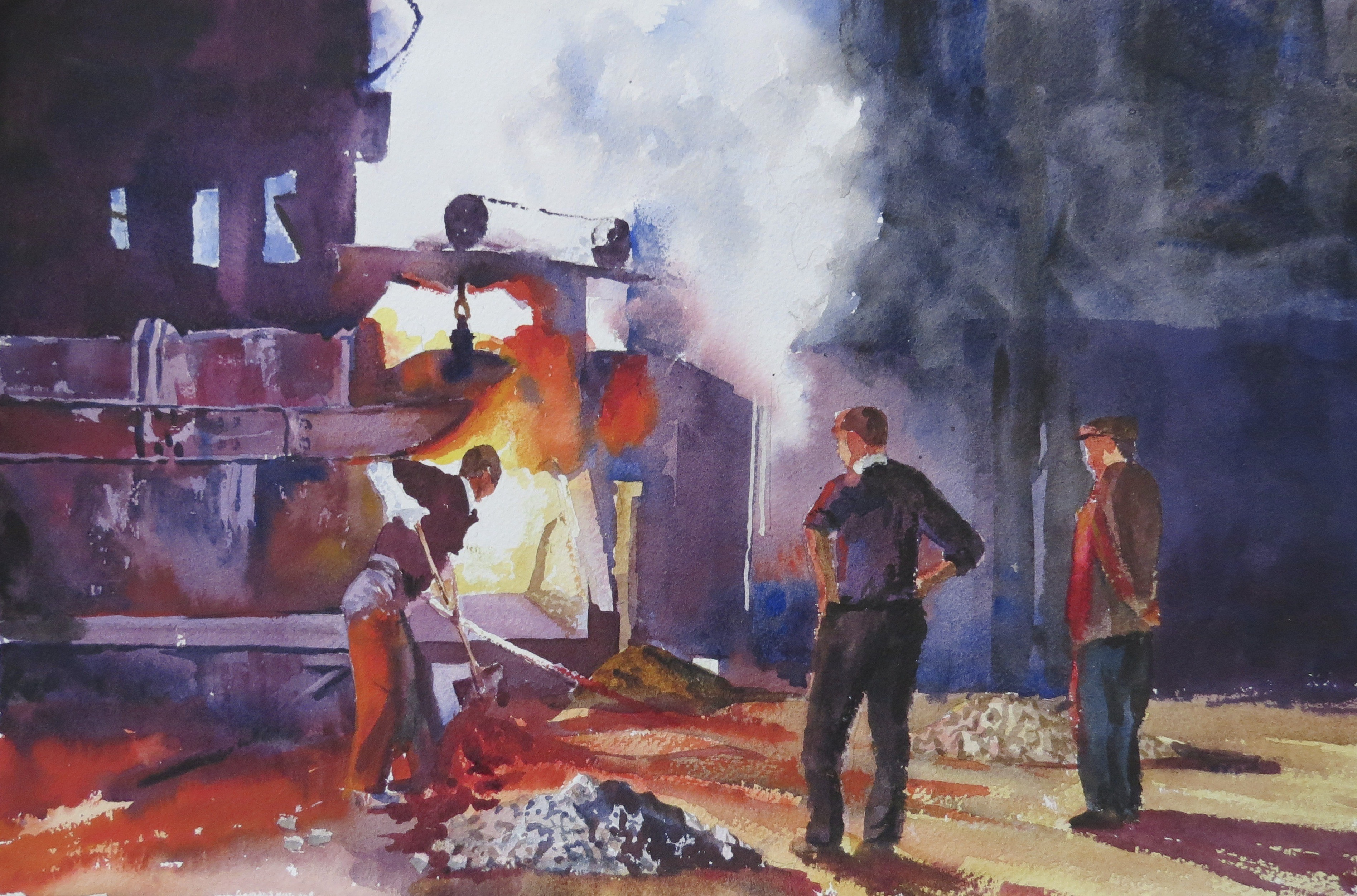 Steelworks Series No.26    33 x 50 cm    Watercolour