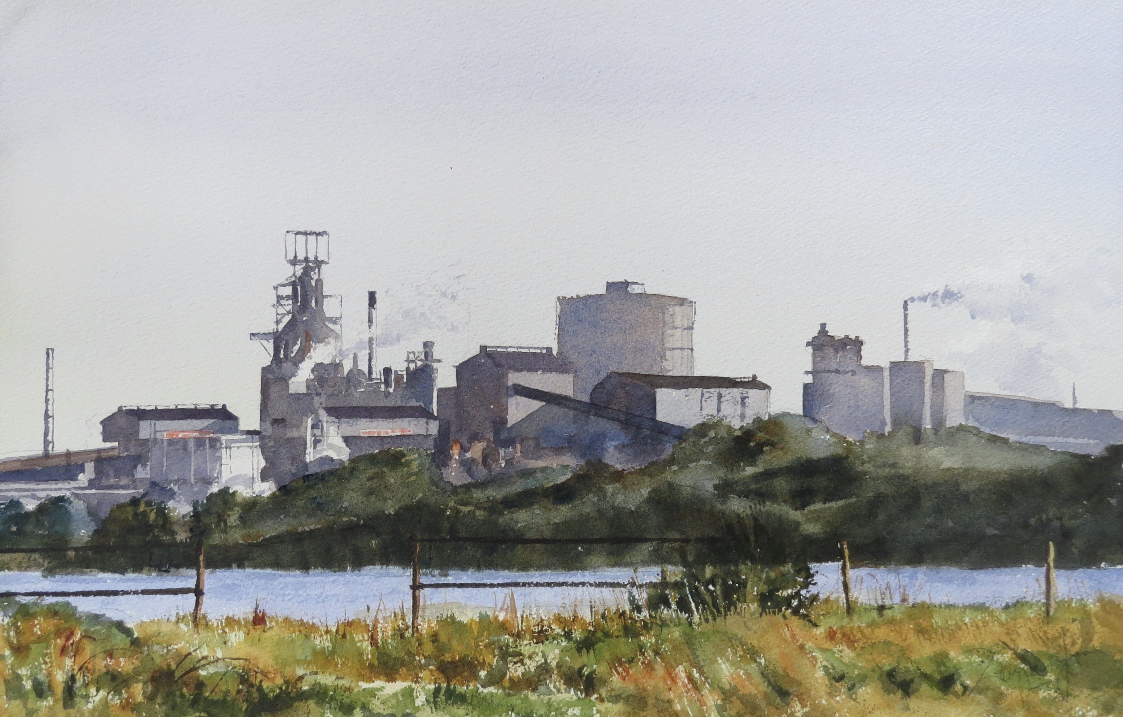 Steelworks Series No.28    33 x 50 cm    Watercolour