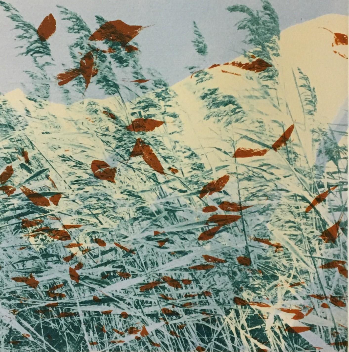 'Gust'     Monoprint from gravure plates     20 x 20 cm