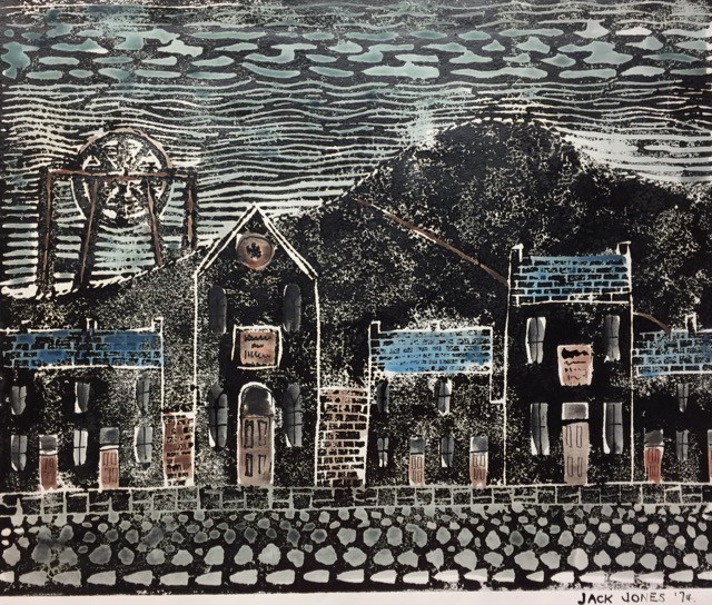 """Village in Wales *	Collograph/Mixed Media	(25 x 30.5 cm)	Mounted"