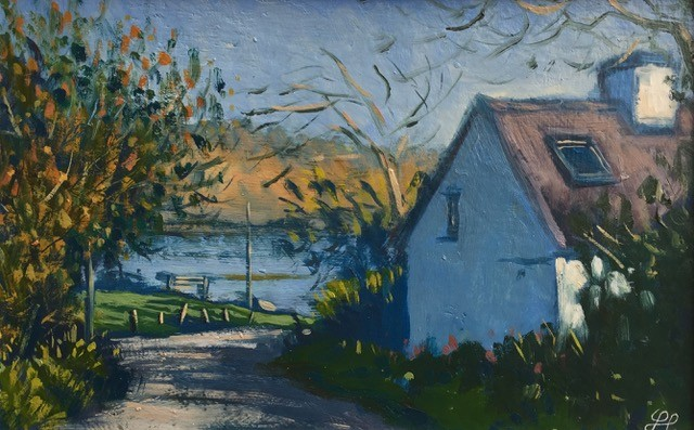 Cottage on the Cleddau   8 x 12 ins   Oil